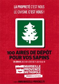 Recyclage sapins Marseille Provence Métropole