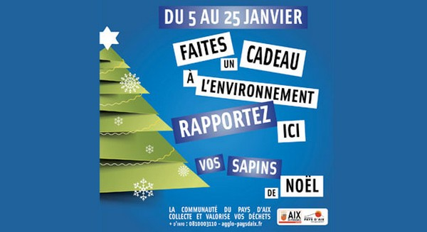 Recyclage sapins Agglo du Pays d'Aix