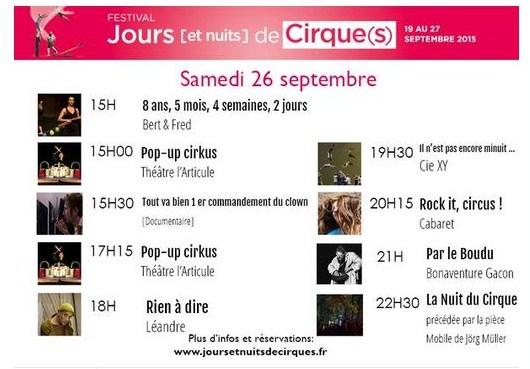 Festival Jours [et Nuits] de Cirque(s)