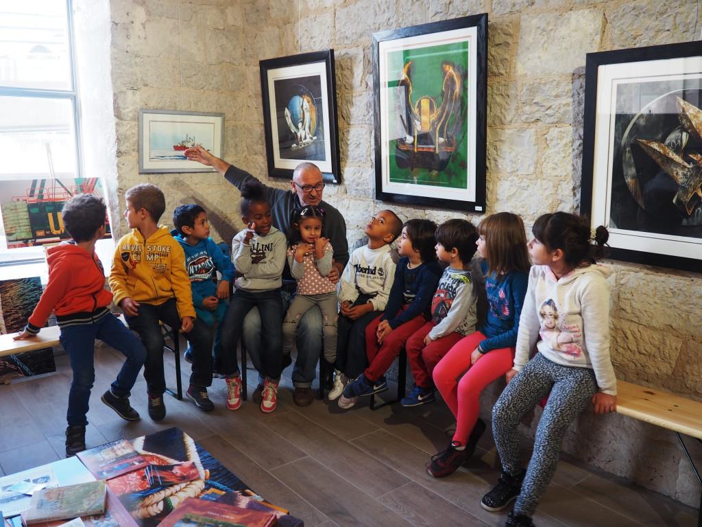 Atelier enfant - expo David D'Alessandro