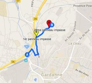 plan Safran du Cativel - Gardanne