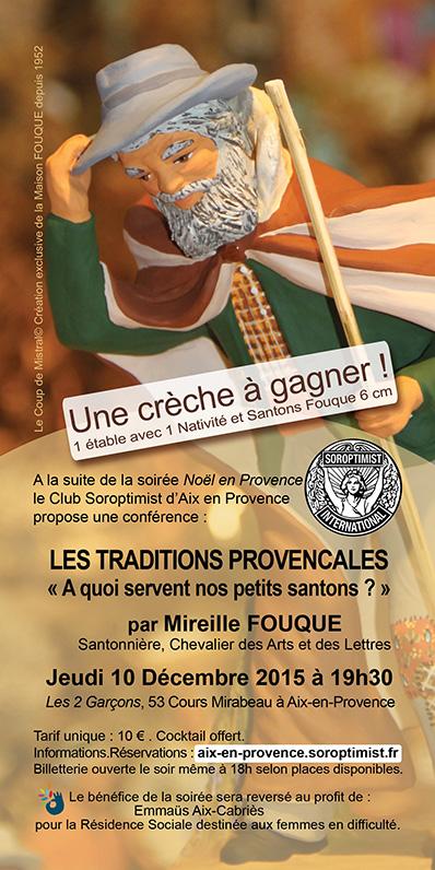 """Conférence Santons Fouque - """"A quoi servent nos petits santons"""" Provence , Mireille Fouque , Noel, traditions provençale"""