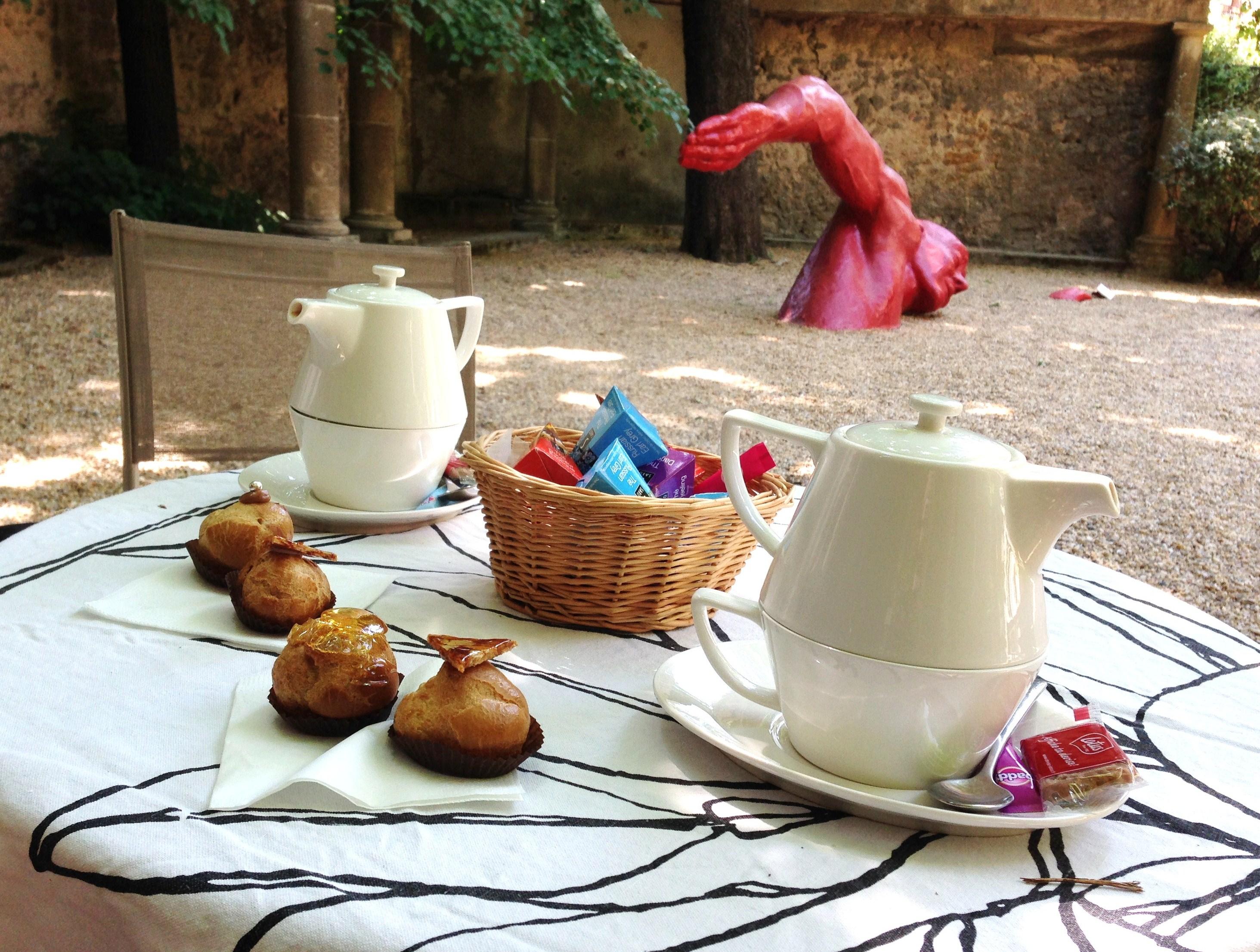Tea time chou au Salon de Thé de l'hôtel de Gallifet
