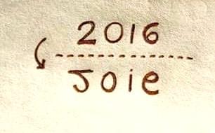 2016 année de la Joie