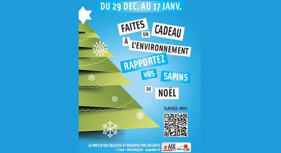 Recyclage sapins de Noel - Aix en Provence