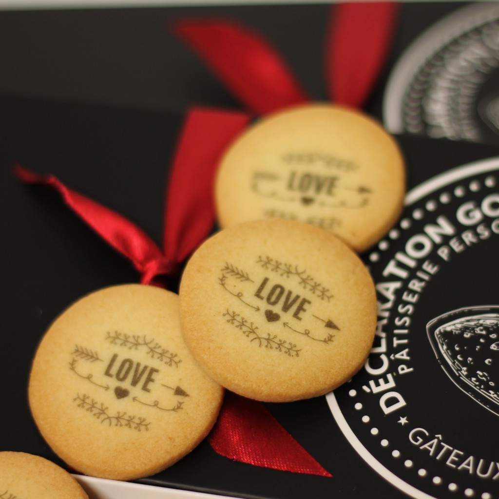Declaration gourmande Saint valentin