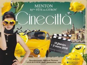 Cineccittà - fête du citron Menton, French riviera, côte d'azur