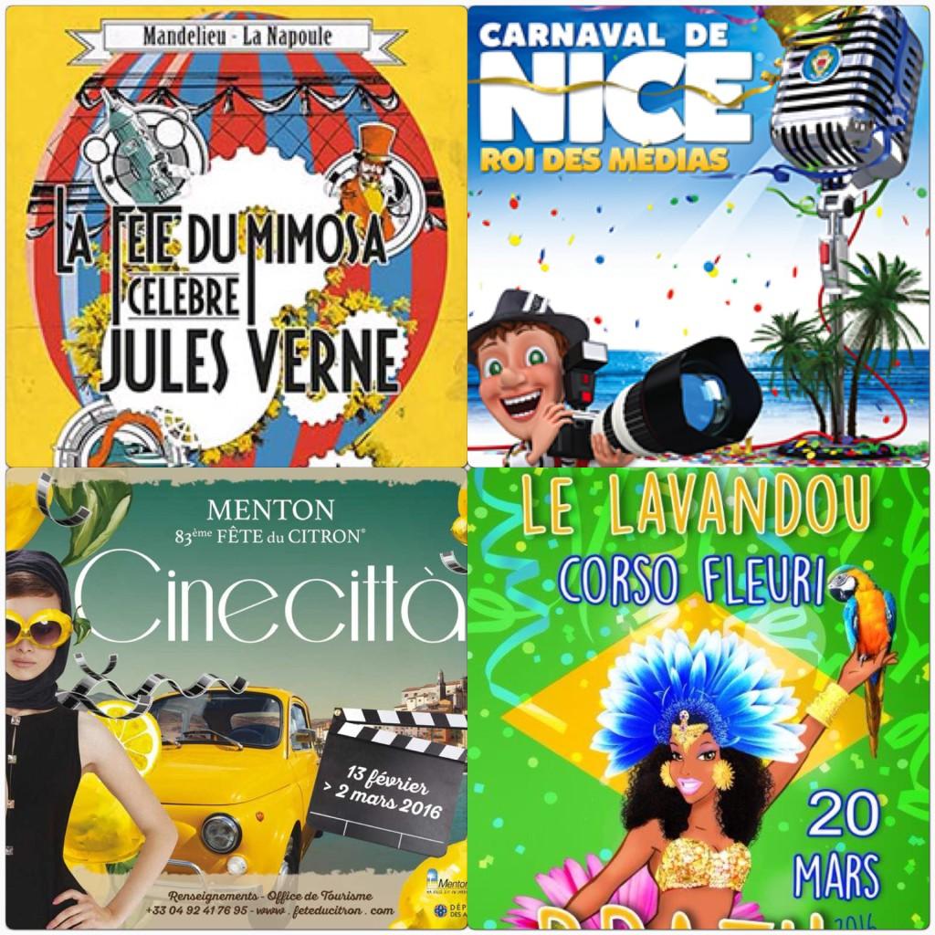 Carnavals et fêtes des fleurs sur la French Riviera !