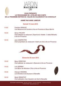 Programme Salon du calisson & du chocolat - Aix en Provence