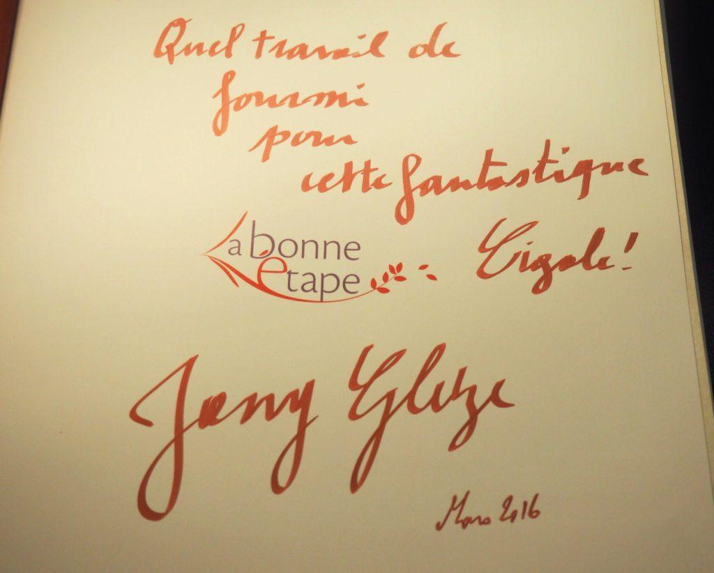 Spéciale dédicace - Jany Gleize - Livre La bonne étape