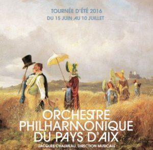 Tournée été 'Orchestre Philharmonique du Pays d'Aix