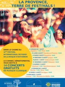 la route de la Durance aux Alpilles - Concerts gratuits Festival International de Piano de la Roque d'Anthéron