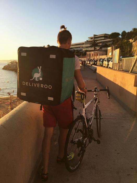 Biker Deliveroo Marseille
