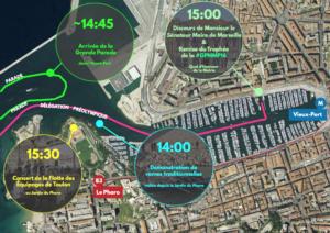 Plan arrivée Grande Parade Maritime - Marseille