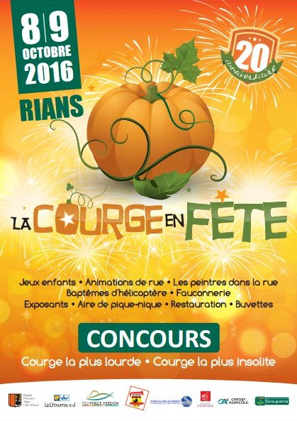 La Courge en fête de Rians 2016 - 20e anniversaire