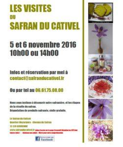 Les visites du Safran cu Cativel