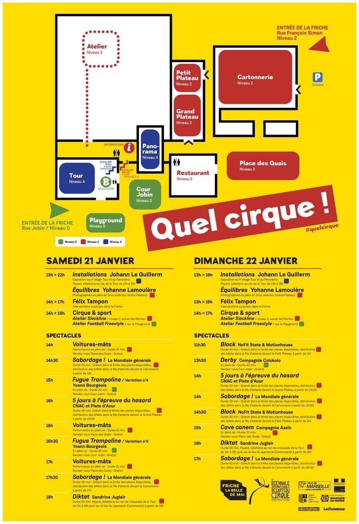 Quel cirque - Week-end ouverture 2e Biennale Internationale des Arts du Cirque - Marseille