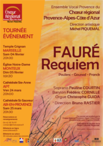 Requiem Fauré - Choeur régional Provence Alpes Cote d'Azur