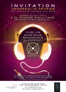 Silent Nativ - Grand hôtel du Roi René, DJ mixage simultané