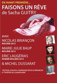 Faisons un rêve Sacha Guitry - Festival des Mots des Etoiles - Théâtre Silvain Marseille