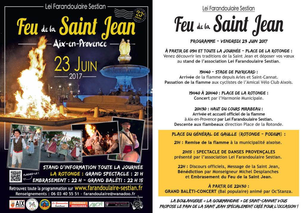 Feu de la Saint Jean Aix en Provence - Farandoulaire sestian