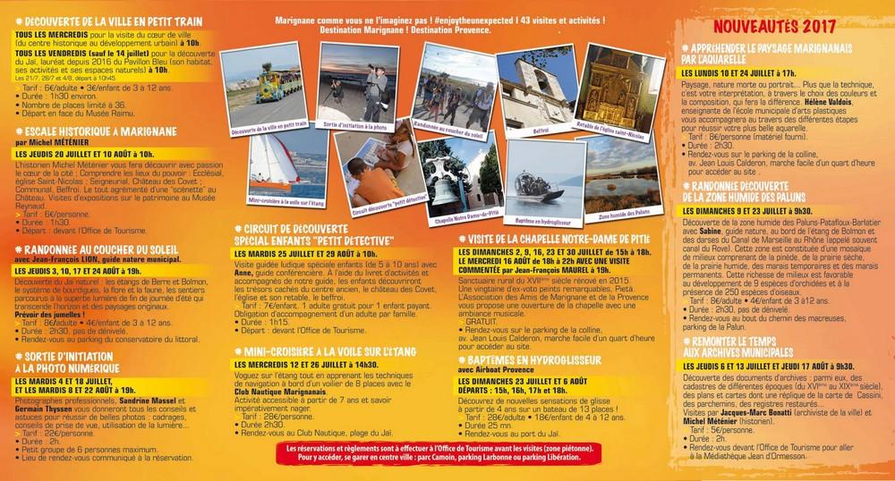 Flyer escales patrimoine Marignane été 2017 - Verso