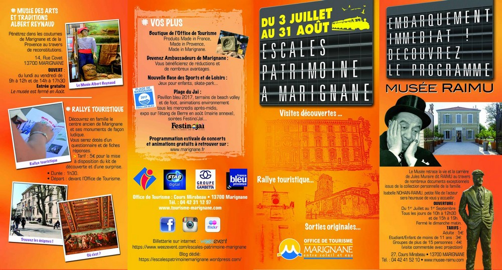 Flyer escales patrimoine Marignane été 2017 - recto