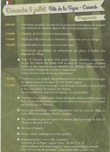 Fête de la figue longue noire de Caromb - programme 20172017