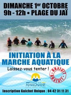 Initiation à la marche aquatique -Plage du Jaï - Marignane