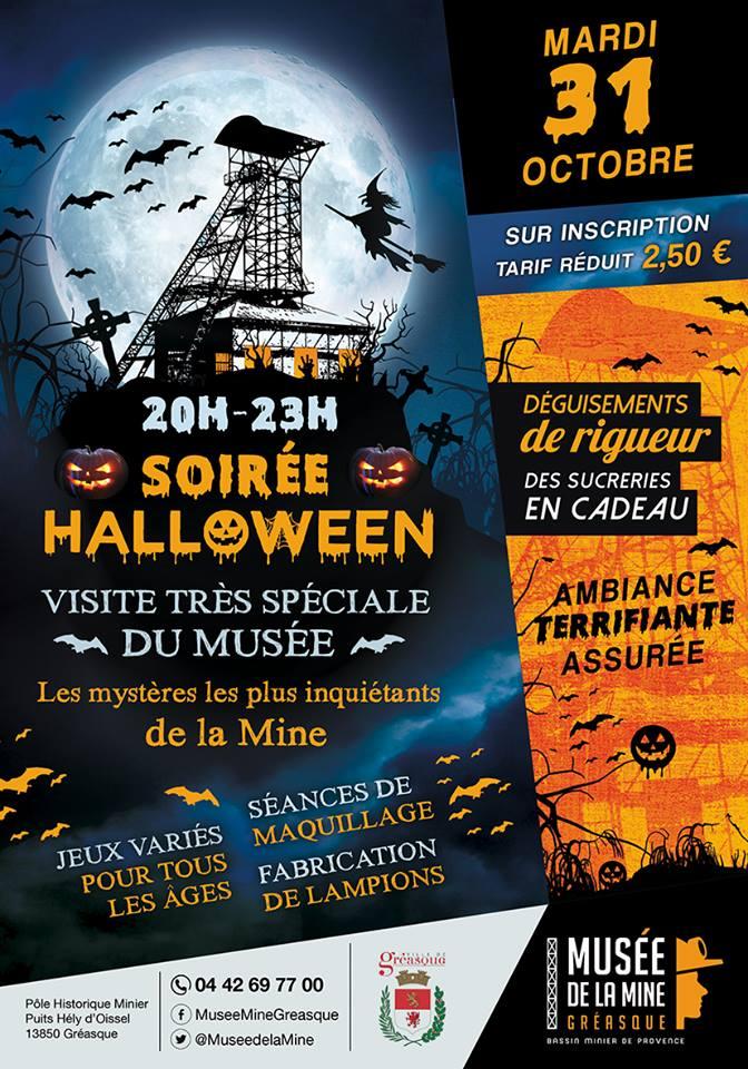 Halloween au musée de la mine de Gréasque