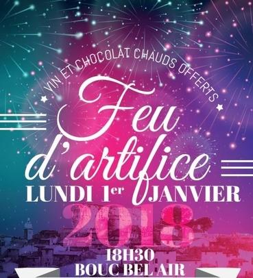 Feu d'artifice Bouc Bel air 1er janvier 2018