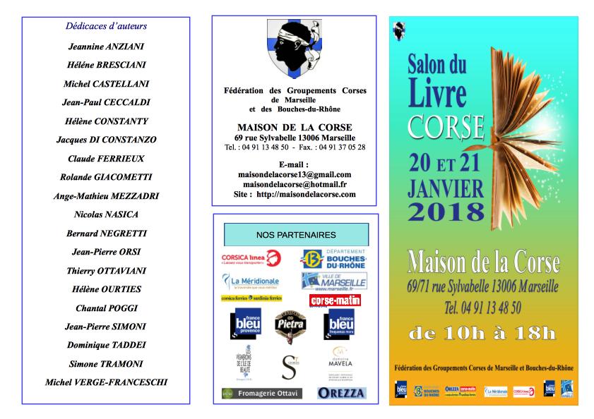 salon du livre Corse 2018