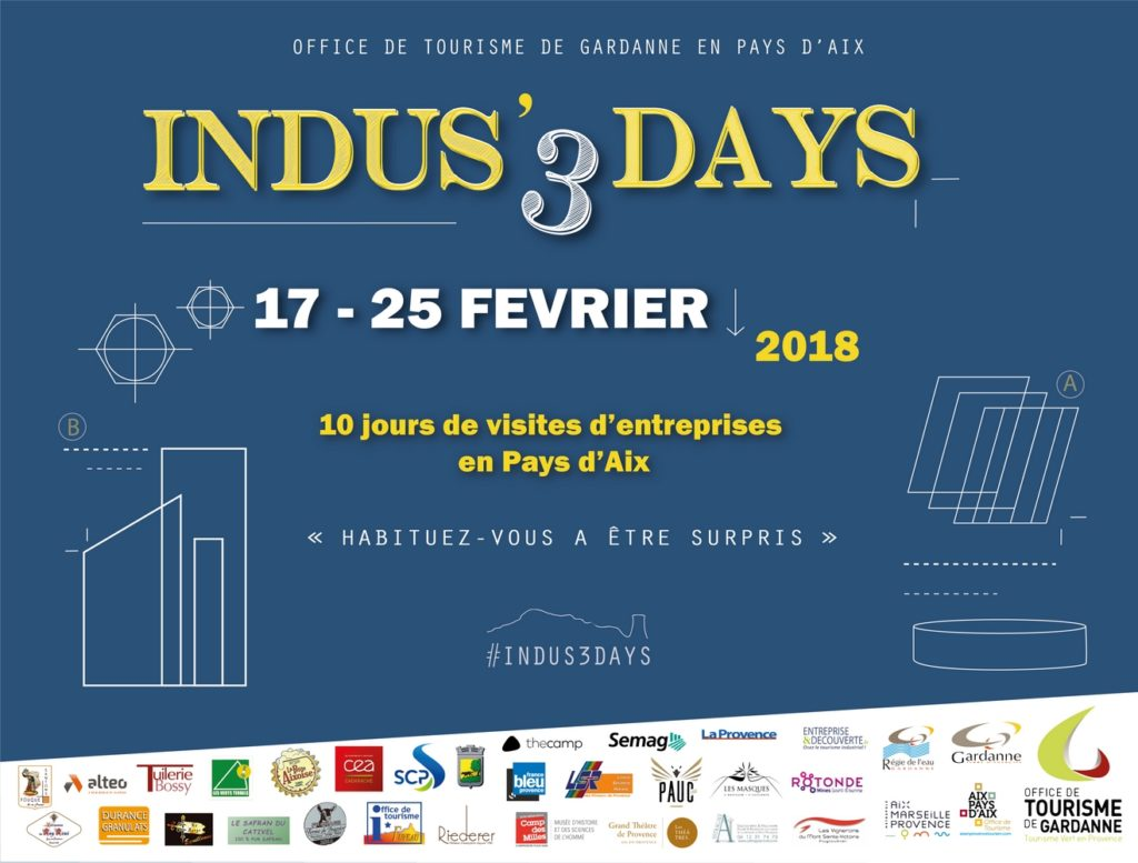 Indus'3 days - visites insolites en Pays d'Aix
