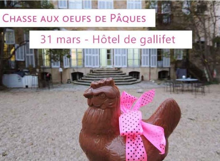 Chasse aux oeufs Philippe Segond- Hôtel de Gallifet Aix en Provence