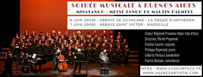 Soirée musicale à Buenos-Aires – Misatango à l'Abbaye de Silvacane