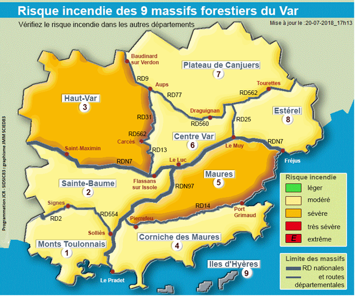 Carte vigilance du Var