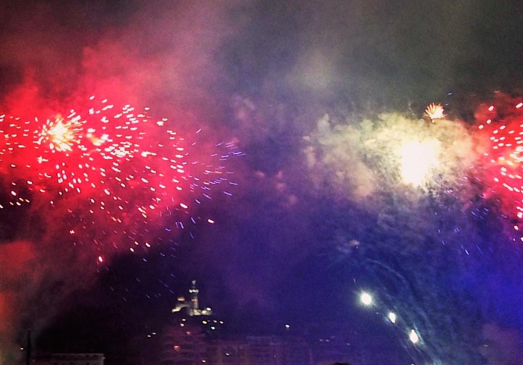 Feu artifice Marseille 14 juillet