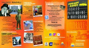 Flyer programme Escales patrimoine