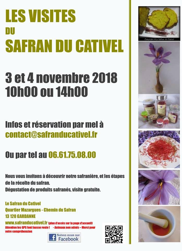 les visites du safran du Cativel - Gardanne