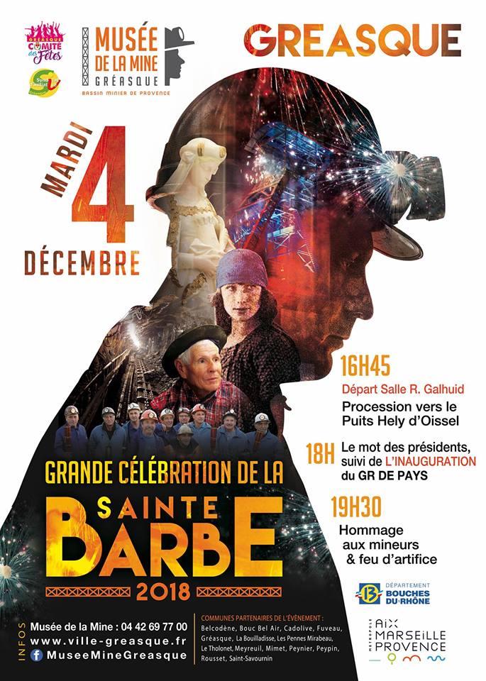 Grande Célébration de la Sainte Barbe 2018 - Musée de la mine de Gréasque