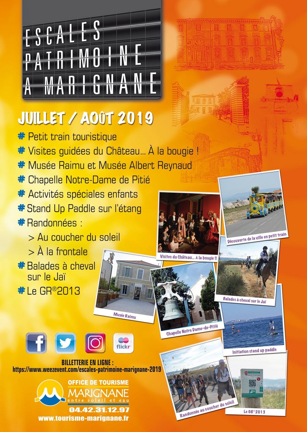 Affiche Escales Patrimoine Marignane 2019