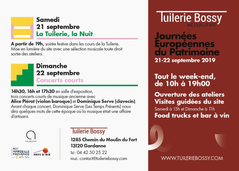 Les Journées Européennes du Patrimoine à la Tuilerie Bossy