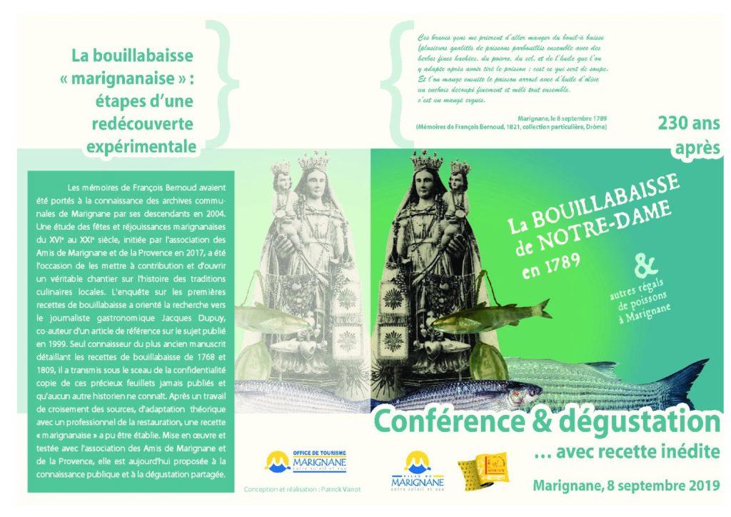 Conférence & dégustation La Bouillabaisse de Notre Dame