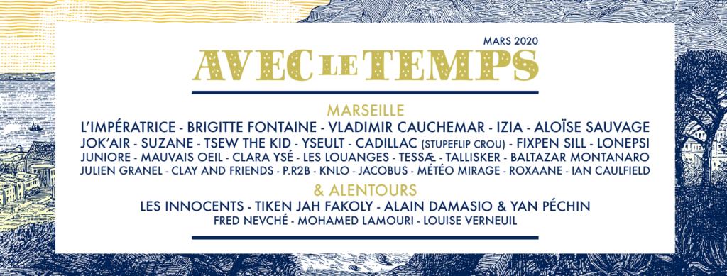 Festival Avec le temps Marseille et alentours 2020