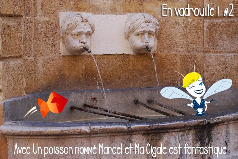 Fontaine d'argent Aix en Provence - En Vadrouille poisson cigale