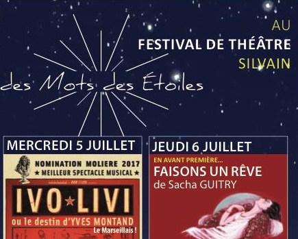 Des Mots et des Étoiles pour passer deux belles soirées au Théâtre Silvain [Jeu/Concours pour gagner des places]